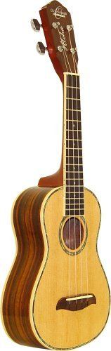 Oscar Schmidt OU3  Concert Ukulele by OSI. $81.55. Amazon.com                 This soprano uke is beautifully adorned in abalone and exotic rosewood. With its select spruce top and rosewood back/sides, it delivers the dulcet tones you'd expect from a ukelele, and with Oscar Schmidt's precision setup you know it'll play like a charm.            A soprano uke beautifully adorned in abalone and exotic rosewood.   Soprano Ukeleles There are four common types of ukes o...