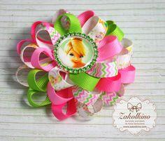Tinkerbell Fairy hair bow Tinkerbell Party Girls by ZakolkinoCom