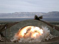 A GBU-39/B Small Diameter Bomb hits a test target [2400 x 1800]
