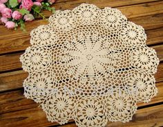 Aliexpress.com : Buy 6cs/lot hand crocheted beige doilies wholesale doilies for wedding decor FREE SHIPPING!!! from Reliable wholesale price doilies suppliers on Handmade Shop $17.80