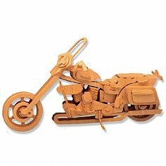 3-D Wooden Puzzle - Motorcycle Model 2 -Affordable Gift for your Little One! Item #DCHI-WPZ-P020