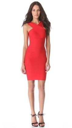 Herve Leger Stella Cross Front Dress Dress P 805a02991