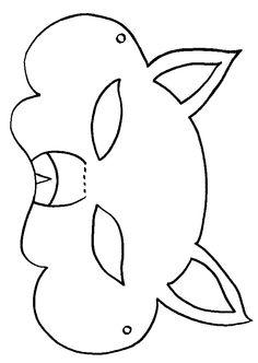 Masker vos! Diy For Kids, Crafts For Kids, Arts And Crafts, Coloring Sheets, Coloring Pages, Cardboard Animals, Paper Mask, Wolf, Carnival Masks