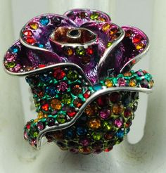 Multicolor Rose by victoriascharms on Etsy