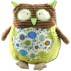 Green Groovy Owl Pillow| Baby, Plush, Toy,Owl, Maison Chic, Stuffed Animals, Gift for Little Boy, Stuffed Owl| Catching Fireflies