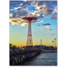 Trademark Fine Art Coney Island Canvas Art by CATeyes, Size: 16 x 24