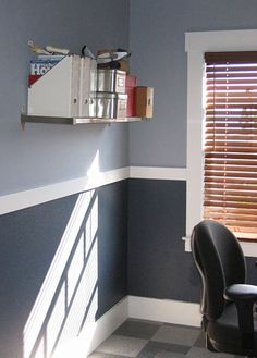 Chair Rail In Boys Room Dark And Light Grey Accent W