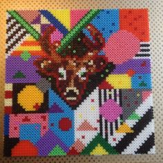 Hama perler bead Art (inspired by the work of Camilla Drejer)  by Michele Bay Olsen