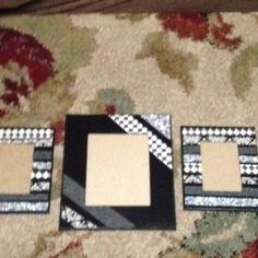 My mod podge picture frames I made!!!