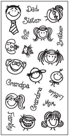 "4""x8"" Clear Stamps - Happy and You Know it"