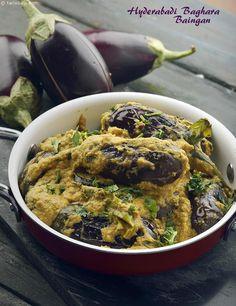 Hyderabadi Baghara Baingan recipe   Indian Subzi Recipes   by Tarla Dalal   Tarladalal.com   #4353