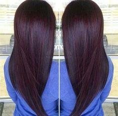 Dyed hair 2018 burgundy