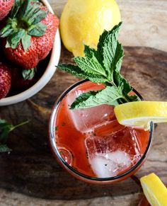 Strawberry mint lemonade sounds like just the thing for a summer afternoon.