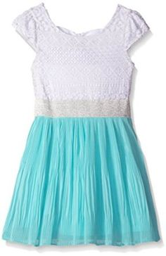 Youngland Girls' Crochet Lace to Pleated Chiffon Dress: Crochet lace bodice dress with chiffon pleated skirt detail Girls Party Dress, Baby Girl Dresses, Baby Dress, Chiffon Dress, Pleated Skirt, Daddy Daughter Dance Dresses, Lace Bodice, Crochet Lace, New Dress