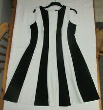 NEW M/&S Holly Willoughby Womens Animal Print Waisted Midi Tea Dress Black 8-22
