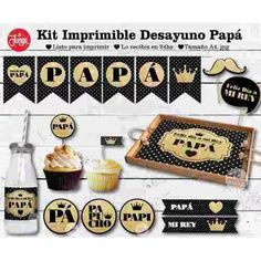 Dia Del Padre Kit Imprimible Desayuno Papá 24hs - $ 90,00 Party Box, Happy Fathers Day, Fathers Day Gifts, Dad Day, Kirigami, Craft Kits, Cool Diy, Best Gifts, Birthdays