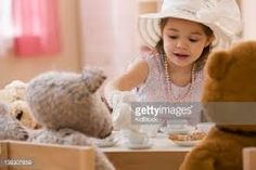 Image result for kids with stuffed animal tea party toy