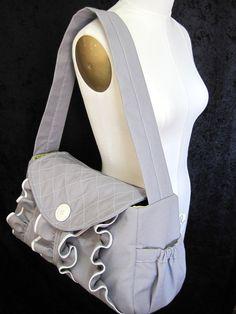 Ruffled diaper bag (etsy - twirlybirdbaby)