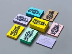 Colourful and eye-catching branding for design school.