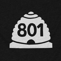 The Stately Type 801 tee features the combination of the iconic white-on-black beehive from the state's highway markers and an 801—Utah's original area code—on a black poly/cotton crewneck or v-neck.