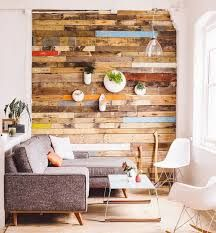 Image result for wood accent wall living room