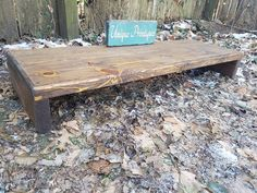 Rustic Reclaimed Wood Table Riser Bench by UniquePrimtiques