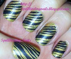 Spellbinding Nails: BM207 + ' Sparkly Tiger '