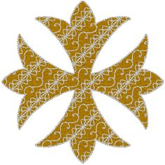 Patonce Pattee Cross Embroidery Design