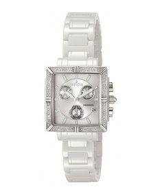 Take a look at this Silver Quartz Chronograph Watch - Women by Invicta on #zulily today!