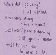 How to save a life- the fray