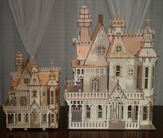 Victorian Dollhouse - Large Victorian Doll House Kit, $217.99 (http://woodvictoriandollhouse.com/large-victorian-doll-house-kit/)