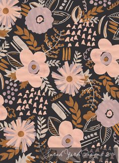 Sarah York 2014 | Textile & Surface Pattern Design | http://www.sarahyorkdesigns.com