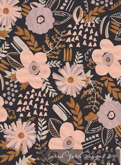 Textile & surface pattern design, Sarah York, 2014