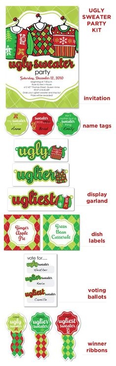 """Ugly Sweater Party needing ideas for a FUN Ugly Christmas Sweater Party check out """"The How to Party In An Ugly Christmas Sweater"""" at Amazon http://www.amazon.com/Party-Christmas-Sweater-Simple-ebook/dp/B006PGBRDW/ref=sr_1_3?ie=UTF8=1354124434=8-3=the+how+to+party+in+an+ugly+christmas+sweater"""