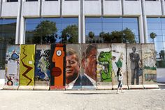 A section of the iconic Berlin Wall resides in the heart of Los Angeles. Berlin Wall, In The Heart, Wicker Baskets, Woven Baskets