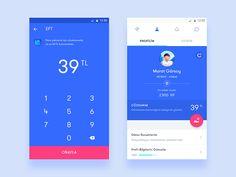 Mystery shopping app / Send Money & Profile by Murat Gursoy - Dribbble