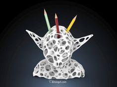 3D Voronoi Yoda - by @Dizingof by Dizingof - Thingiverse