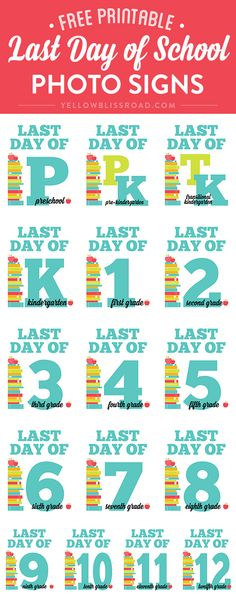 Be ready for those classic Last Day of School photos with these Last Day of School Signs and Interviews!