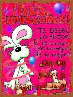Tarjetas con frases de cumpleaños en la distancia Happy B Day, E Cards, Happy Birthday Cards, Betty Boop, Birthday Quotes, Diy And Crafts, Birthdays, Lily, Snoopy