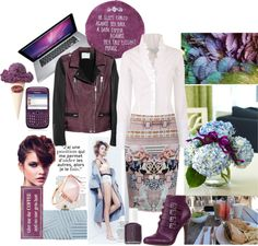 """475. Mauve & Baby Blue"" by cherieaustin ❤ liked on Polyvore"