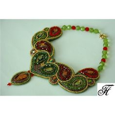 """Necklace """"Scheherazade"""" Don't like the necklace part; the bead painting design is wonderful."""