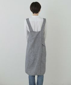 Cross Apron: Linen Denim