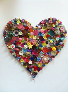 <3 Framed Button Heart, latest commissioned piece :)