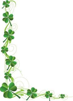 A good selection of clip art related to St. Patrick's Day, including shamrocks, leprechauns, pot of gold at the end of a Rainbow, St. Patrick's Day Word Art and more.: Shamrock Page Border Boarder Designs, Page Borders Design, Page Borders Free, St Paddys Day, St Patricks Day, Boarders And Frames, Art Carte, Floral Vintage, Vintage Clip