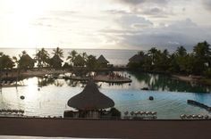 InterContinental Resort Tahiti View from the lobby. Denise Mello Certified Tahiti Specialist 888-462-7817