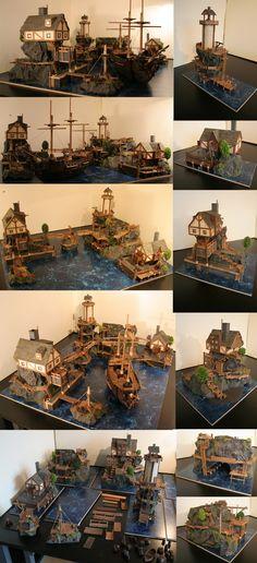 #Pirate Island Scenery by (Bruud) | #Diorama #Miniatures