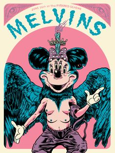 18x24 3 Color Screenprinted Poster for the Melvins