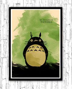 My Neighbor Totoro Hayao Miyazaki Minimalist Movie Poster