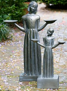 """A replica of the original statue by Sylvia Shaw Judson, the celebrated Bird Girl Statue gained notoriety by its prominence in the best-selling novel and film """"Midnight in the Garden of Good and Evil"""""""