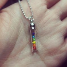 miniature origami stars necklace rainbow color by lovelyelement etsy